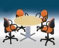 mesa de reunião redonda 18mm